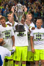 2011 US Open Cup Final: Erik Friberg Raises the Cup
