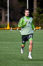 Roger Levesque still looked strong at the end of the session