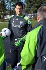 New keeper Michael Gspurning is one tall man