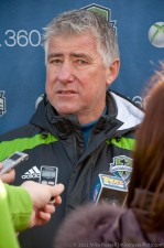 Sigi Schmid meets the press