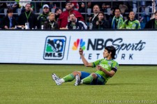 Fredy Montero counts off the number of fouls he's received