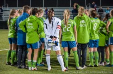 Seattle Sounders Women: Post-match team meeting