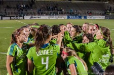 Seattle Sounders Women Celebrate another win