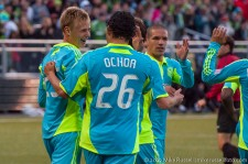 Seattle Sounders USOC: Andy Rose celebrates his goal