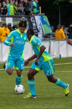 Seattle Sounders USOC: Fredy Montero chips a pass to Cordell Cato