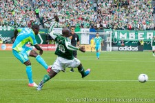 Sounders v Timbers: Johnson's attempt deflected by Futty