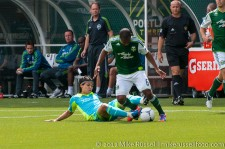 Sounders v Timbers: Montero attempts a tackle on Nagbe