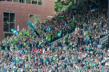Sounders v Timbers: Sounders supporters go nuts