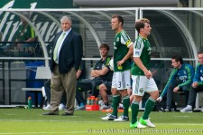 Sounders v Timbers: Sigi Schmid watches his former player Fucito get subbed off