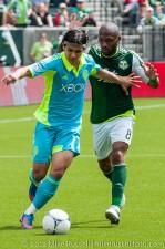 Sounders v Timbers: Montero and Songo'o