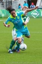 Sounders v Timbers: Mauro Rosales taken down by Steven Smith