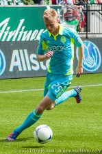 Sounders v Timbers: Halftime sub Andy Rose