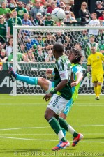 Sounders v Timbers: Rosales flicks it over Danny Mwanga