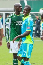 Sounders v Timbers: Eddie Johnson and Futty