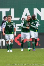 Sounders v Timbers: Kris Boyd celebrates his goal