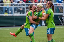 Seattle Sounders Women: Megan Manthey celebrates her goal