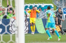 USOC Sounders-Chivas: Josh Ford celebrating Sammy Ochoa's goal