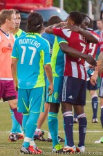 USOC Sounders-Chivas: James Riley and Jhon Kennedy Hurtado