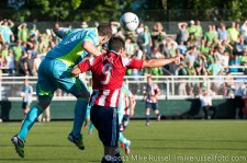 USOC Sounders-Chivas: Zach Scott and Juan Pablo Angel