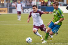 Sounders - Rapids: Martin Rivero and Jeff Parke