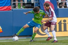 Sounders - Rapids: Alvaro Fernandez keeps Brian Mullan off the ball