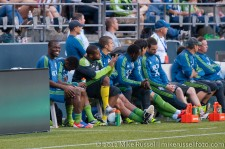 Sounders - Rapids: Steve Zakuani on the bench