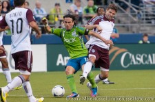 Sounders - Rapids: Mauro Rosales and Drew Moor
