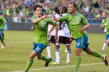Sounders - Rapids: Flaco points to Fredy Montero and the other subs...