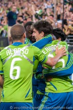 Sounders - Rapids: ...and celebrates with them