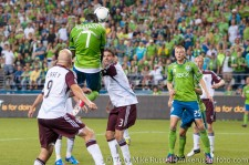 Sounders - Rapids: Eddie Johnson heads in his 8th goal of the season