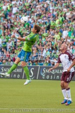 Sounders - Rapids: Jeff Parke clears