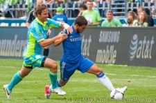 Sounders-Chelsea: Jeff Parke and Eden Hazard