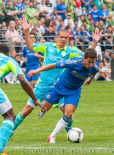 Sounders-Chelsea: Osvaldo Alonso and Eden Hazard