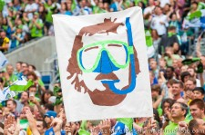 Sounders-Chelsea: Roger in scuba gear