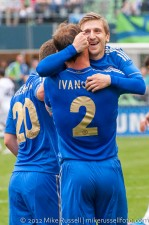 Sounders-Chelsea: Marin and Ivanovic celebrate