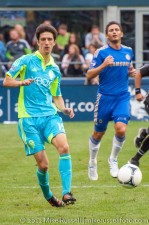 Sounders-Chelsea: Alvaro Fernandez and Frank Lampard