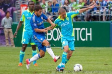 Sounders-Chelsea: Eden Hazard and Ozzie Alonso