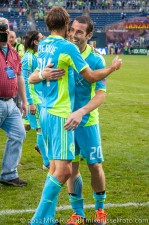 Sounders-Chelsea: The two remaining USL Sounders - Scott and Levesque