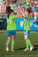 Sounders Women: Lyndsey Patterson and Veronica Perez