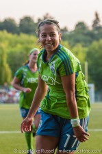Sounders Women: Veronica Perez celebrating