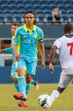 CCL: Sounders-Caledonia: Fredy no-look pass