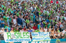 Sounders-LA Galaxy: Fans welcome Tiffert