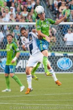 Sounders-LA Galaxy: Brad Evans and Marcelo Sarvas