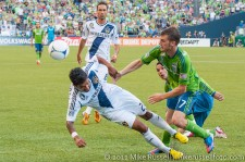 Sounders-LA Galaxy: Alex Caskey and AJ DeLaGarza