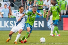 Sounders-LA Galaxy: Ozzie Alonso and Marcelo Sarvas