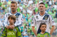 Sounders-LA Galaxy: Beckham and Keane