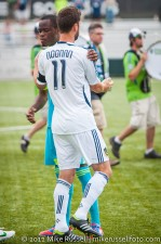 Sounders-Galaxy Reserves: Steve Zakuani and former Sounder Pat Noonan