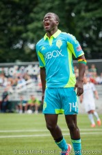 Sounders-Galaxy Reserves: Michael Tetteh lets out a frustrated scream