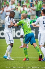 Sounders-Vancouver: Ozzie Alonso and Gershon Koffie
