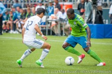 Sounders-Vancouver: Eddie Johnson and Lee Young-Pyo